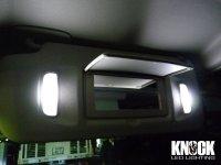 07〜14 キャデラック エスカレード用 バニティミラーLEDバルブセット ホワイト