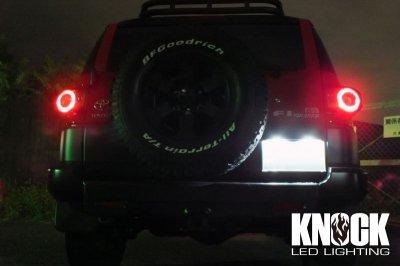 画像1: 07〜18 USトヨタ FJクルーザー用 ナンバー灯LEDバルブセット